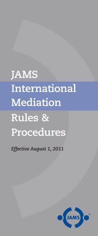JAMS International Mediation Rules