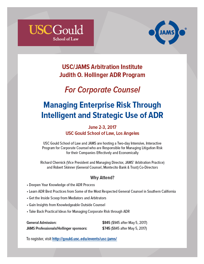 Managing Enterprise Risk: Through Intelligent and Strategic Use of ADR