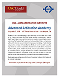 USC-JAMS Advanced Arbitration Academy PDF